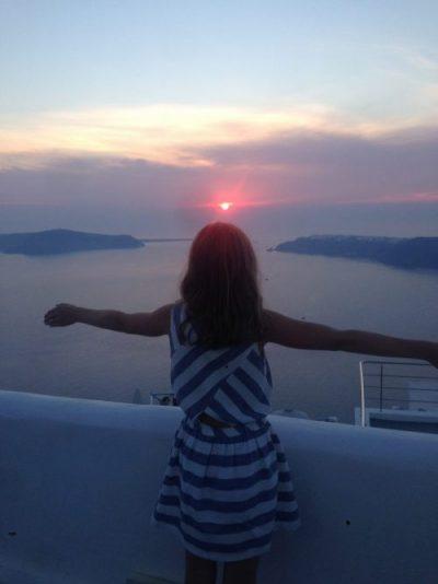 Coucher de soleil Imerovigli Santorin