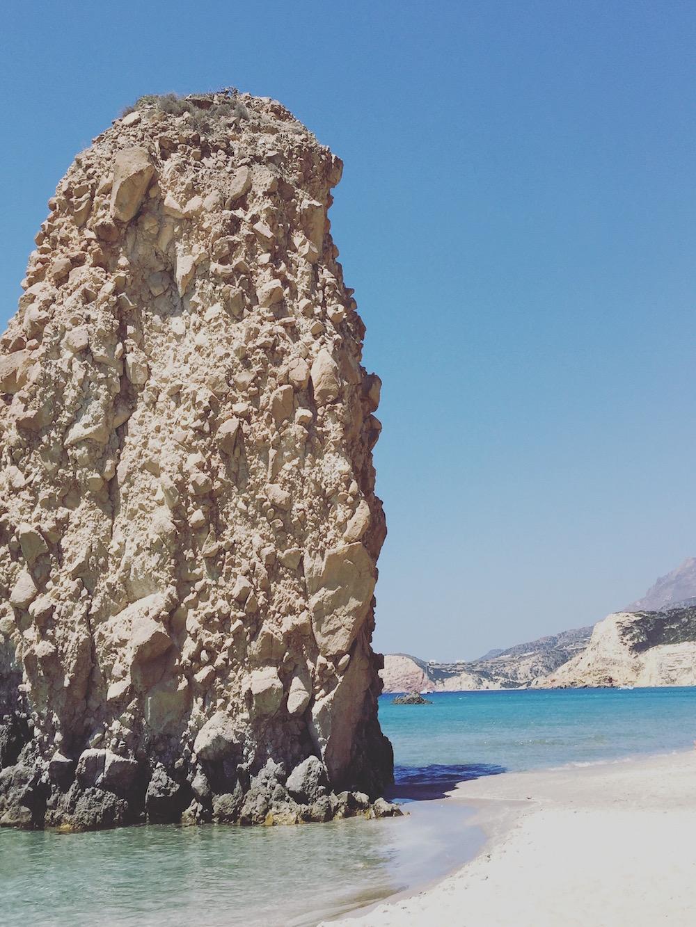 Grèce, Cyclades, plage Firiplaka à Milos
