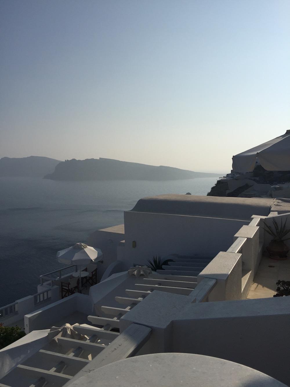 Oia, Santorin, hôtel Strogili