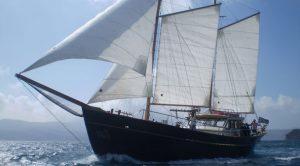 Tour de Milos en bateau, voilier Thalassitra
