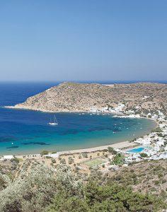 Plage de Vathy à Sifnos