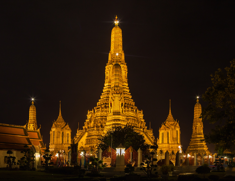 Visiter Bangkok temple Wat Aroun