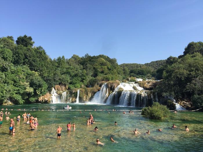 Cascades de Krka en Croatie